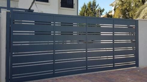 עיצוב מיוחד של אלומיניום בשער לבית